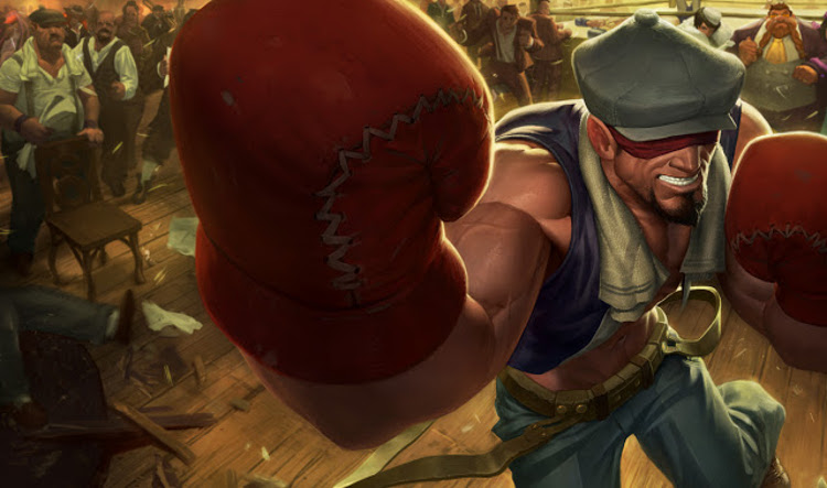 Knockout Lee Sin Splashart